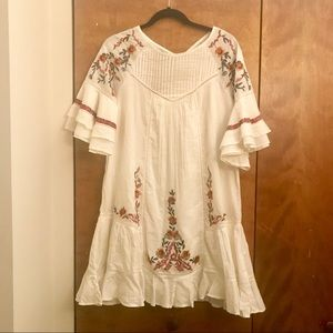 Free People OB726410 Pavlo Babydoll Dress in Black $128 Size Small